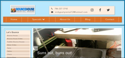 bounce house rental miami website
