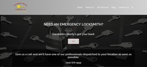 caraballo liberty locksmith website