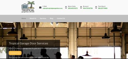 tropical garage door services website