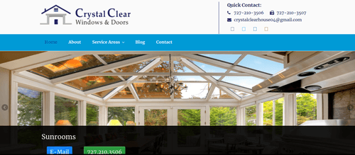 crystal clear windows and doors