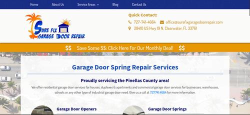 sure fix garage door repair